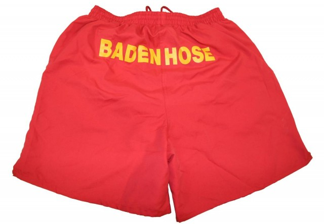 Schriftzug auf der Rückseite der Hose